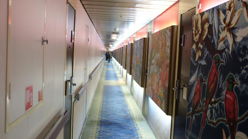 ピースボート オーシャンドリーム号 廊下