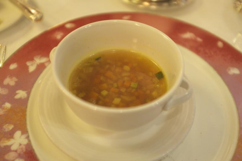 飛鳥Ⅱディナー スープ