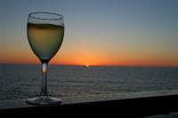 ワインと夕日