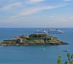 クイーン・エリザベス エクスカーション・寄港地観光 ガーンジー島セント・ピーター・ポートのコーネット城に行きました。