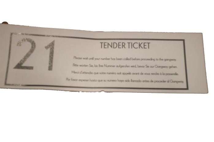テンダーチケットs